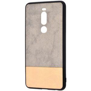 Чехол TPU+PC New Textile Case для Meizu X8 – Gray / beige