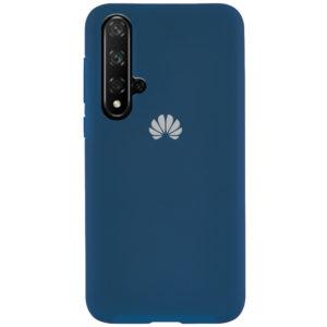 Оригинальный чехол Silicone Cover 360 с микрофиброй для Huawei Honor 20 / Nova 5T – Синий / Cobalt