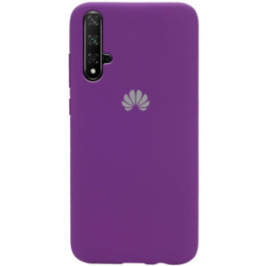 Оригинальный чехол Silicone Cover 360 с микрофиброй для Huawei Honor 20 / Nova 5T – Фиолетовый / Grape