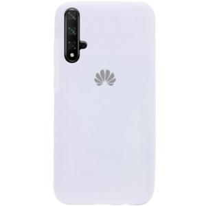 Оригинальный чехол Silicone Cover 360 с микрофиброй для Huawei Honor 20 / Nova 5T – Белый / White