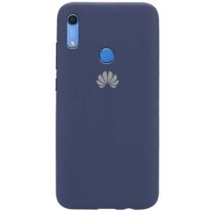 Оригинальный чехол Silicone Cover 360 с микрофиброй для Huawei Y6 / Honor 8A / Y6s 2019 – Синий / Dark Blue