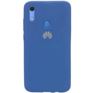 Оригинальный чехол Silicone Cover 360 с микрофиброй для Huawei Y6 / Honor 8A / Y6s 2019 – Синий / Navy Blue