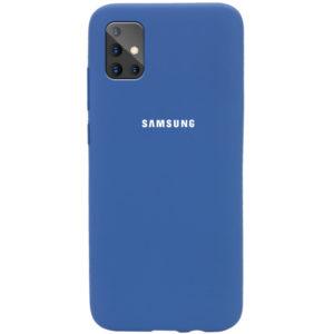 Оригинальный чехол Silicone Cover 360 с микрофиброй для Samsung Galaxy A71 – Синий / Navy Blue
