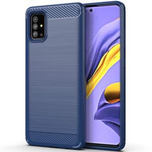 Cиликоновый TPU чехол Slim Series для Samsung Galaxy A71 – Синий