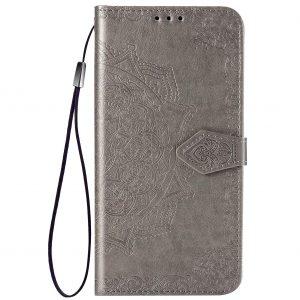 Кожаный чехол-книжка Art Case с визитницей для Xiaomi Redmi Note 9s / Note 9 Pro / Note 9 Pro Max – Серый