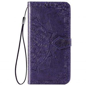 Кожаный чехол-книжка Art Case с визитницей для Xiaomi Redmi 9 – Фиолетовый