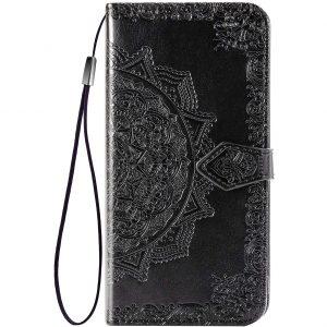 Кожаный чехол-книжка Art Case с визитницей для Xiaomi Redmi 9 – Черный