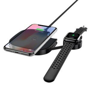 Беспроводное зарядное устройство Hoco S5 2in1 – Black