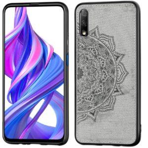 TPU+Textile чехол Mandala с 3D тиснением для Huawei P Smart Pro / Honor 9X (China) – Серый