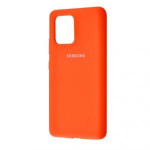 Оригинальный чехол Silicone Cover 360 с микрофиброй для Samsung Galaxy S10 lite (G770F) – Orange