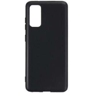 Матовый силиконовый TPU чехол для Samsung Galaxy S20 Plus – Черный