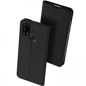 Чехол-книжка Dux Ducis с карманом для Samsung Galaxy M31 — Черный