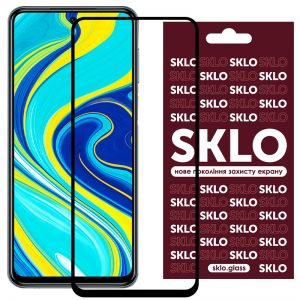 Защитное стекло 3D / 5D Premium SKLO Full Glue на весь экран для Xiaomi Redmi Note 9s / Note 9 Pro / Note 9 Pro Max – Black