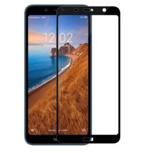 Защитное стекло 3D (5D) Inavi Premium на весь экран для Xiaomi Redmi 7A — Black