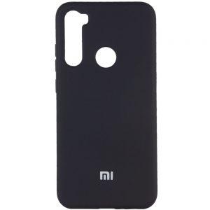 Оригинальный чехол Silicone Cover 360 (A) с микрофиброй для Xiaomi Redmi Note 8T – Черный / Black