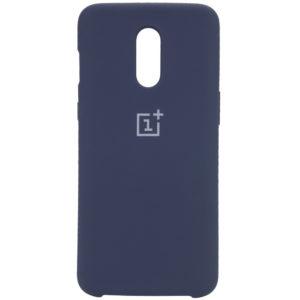 Оригинальный чехол Silicone Case с микрофиброй для OnePlus 7 – Синий / Midnight Blue