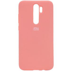 Оригинальный чехол Silicone Cover 360 с микрофиброй для Xiaomi Redmi Note 8 Pro – Персиковый / Peach