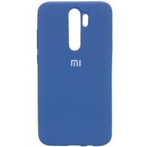 Оригинальный чехол Silicone Cover 360 с микрофиброй для Xiaomi Redmi Note 8 Pro – Синий / Dark Blue