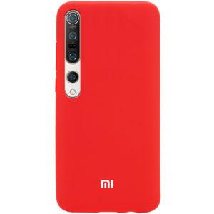 Оригинальный чехол Silicone Cover 360 с микрофиброй для Xiaomi Mi 10 / Mi 10 Pro – Красный / Red