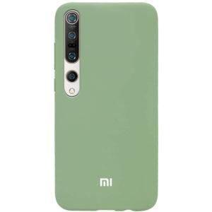 Оригинальный чехол Silicone Cover 360 с микрофиброй для Xiaomi Mi 10 / Mi 10 Pro – Мятный / Mint