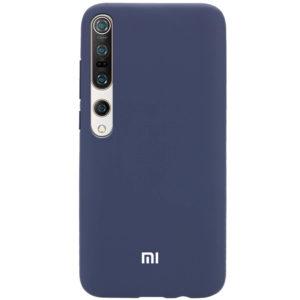 Оригинальный чехол Silicone Cover 360 с микрофиброй для Xiaomi Mi 10 / Mi 10 Pro – Синий / Dark Blue