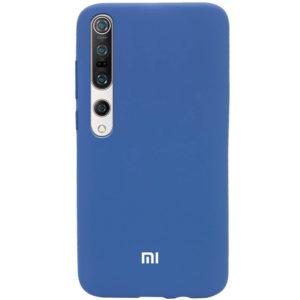 Оригинальный чехол Silicone Cover 360 с микрофиброй для Xiaomi Mi 10 / Mi 10 Pro – Синий / Navy Blue