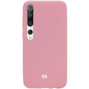 Оригинальный чехол Silicone Cover 360 с микрофиброй для Xiaomi Mi 10 / Mi 10 Pro – Розовый / Pink
