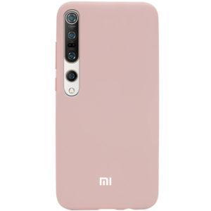 Оригинальный чехол Silicone Cover 360 с микрофиброй для Xiaomi Mi 10 / Mi 10 Pro – Розовый / Pink Sand