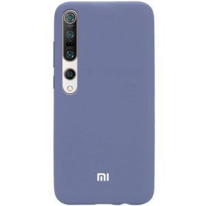 Оригинальный чехол Silicone Cover 360 с микрофиброй для Xiaomi Mi 10 / Mi 10 Pro – Серый / Lavender Gray