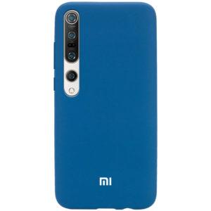 Оригинальный чехол Silicone Cover 360 с микрофиброй для Xiaomi Mi 10 / Mi 10 Pro – Синий / Cobalt