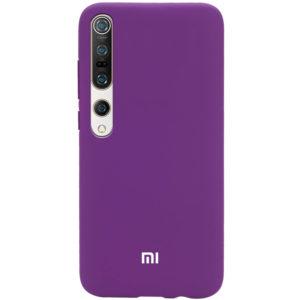 Оригинальный чехол Silicone Cover 360 с микрофиброй для Xiaomi Mi 10 / Mi 10 Pro – Фиолетовый / Grape