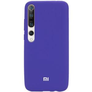 Оригинальный чехол Silicone Cover 360 с микрофиброй для Xiaomi Mi 10 / Mi 10 Pro – Фиолетовый / Purple