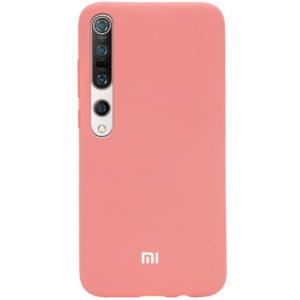 Оригинальный чехол Silicone Cover 360 с микрофиброй для Xiaomi Mi 10 / Mi 10 Pro – Персиковый / Peach
