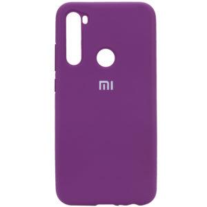 Оригинальный чехол Silicone Cover 360 с микрофиброй для Xiaomi Redmi Note 8 – Фиолетовый / Grape