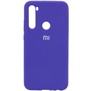 Оригинальный чехол Silicone Cover 360 с микрофиброй для Xiaomi Redmi Note 8 – Фиолетовый / Purple