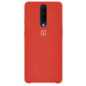 Оригинальный чехол Silicone Case с микрофиброй для OnePlus 7 Pro – Красный / Red
