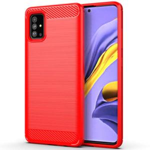 Cиликоновый TPU чехол Slim Series для Samsung Galaxy A71 – Красный