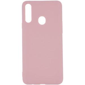 Силиконовый чехол Epic матовый soft-touch для Samsung Galaxy A20s 2019 (A207) — Розовый