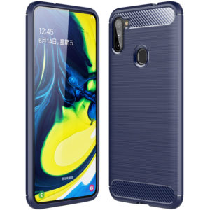Cиликоновый TPU чехол Slim Series для Samsung Galaxy M11 – Синий