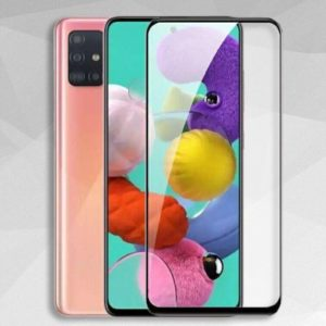 Защитное стекло 3D (5D) Full Glue Armor Glass на весь экран для Samsung Galaxy A71 – Black