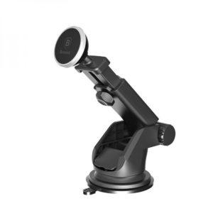Автомобильный держатель Baseus Solid Series Telescopic Magnetic Car Mount – Silver