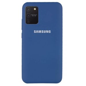 Оригинальный чехол Silicone Cover 360 с микрофиброй для Samsung Galaxy S10 lite (G770F) – Синий / Navy Blue