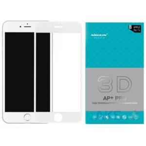 Защитное стекло Nilkin 3D (5D) Full Glue на весь экран для IPhone 7 Plus / 8 Plus — White