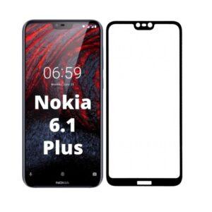 Защитное стекло 3D (5D) Full Glue Armor Glass на весь экран для Nokia 6.1 Plus / Nokia X6 – Black
