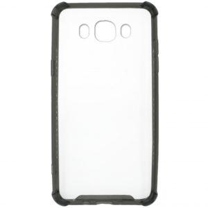 Прозрачный TPU+PC чехол с усиленными углами для Samsung Galaxy J7 2016 (J710) – Black