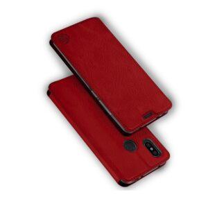 Кожаный чехол-книжка 360 CLASSIC для Samsung Galaxy J7 2015 (J700) – Красный