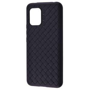 Силиконовый TPU чехол SKYQI плетеный под кожу для Xiaomi Mi 10 Lite – Black