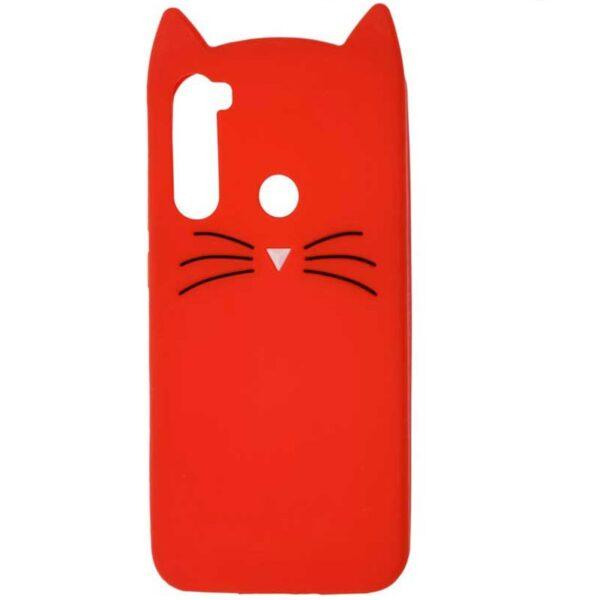 Силиконовый чехол 3D Cat для Xiaomi Redmi Note 8T – Красный