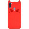 Силиконовый чехол 3D Cat для Samsung Galaxy A11 / M11 – Красный