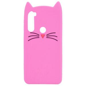 Силиконовый чехол 3D Cat для Samsung Galaxy A21 – Розовый